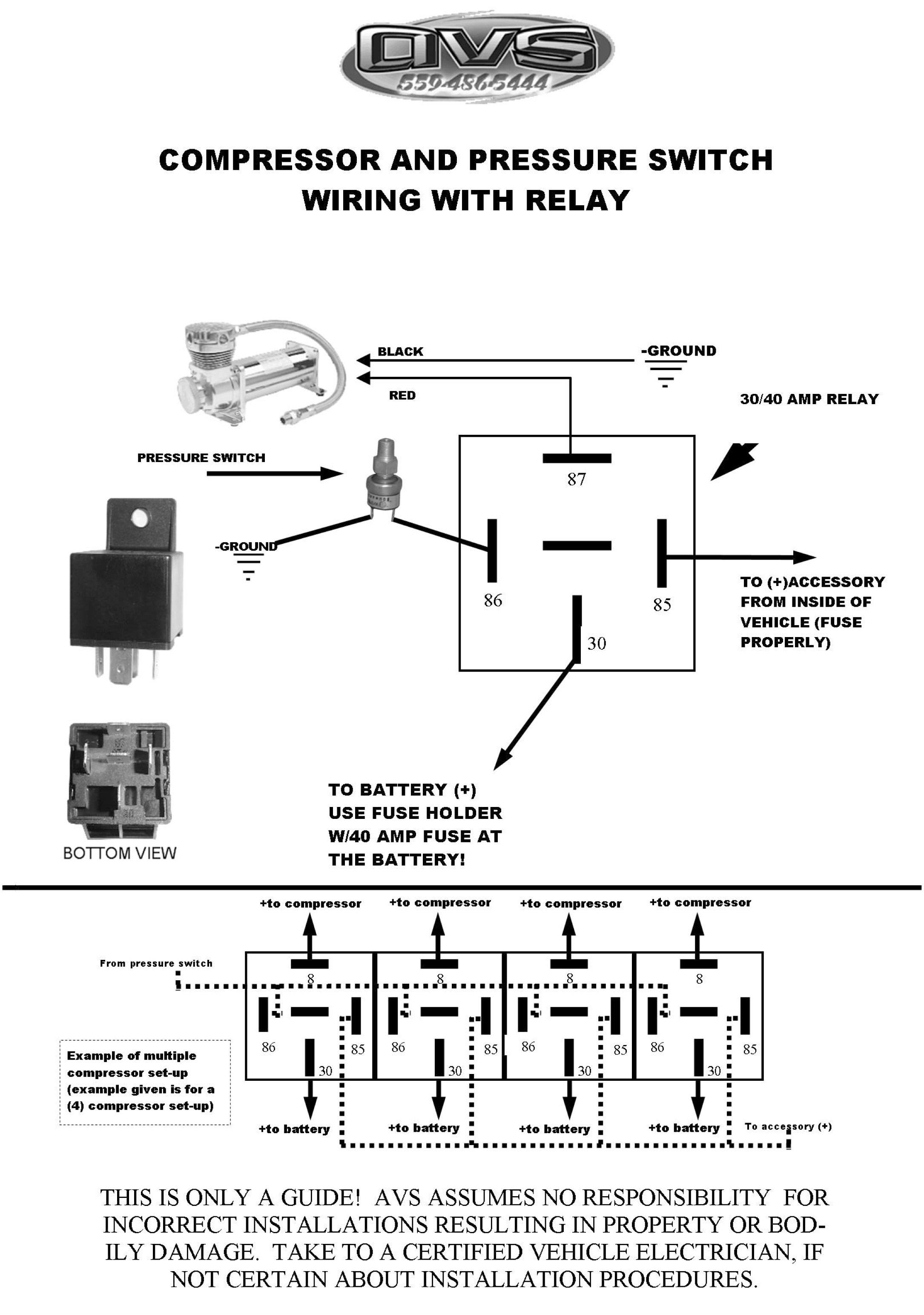 Single Compressor Wiring Kit